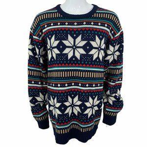 Black Smith Men's Snow Flake Chistmas Sweater XXXL